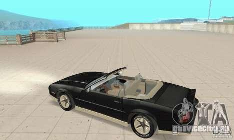 Chevrolet Camaro RS 1991 Convertible для GTA San Andreas вид сзади