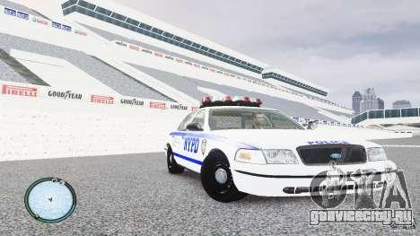 Ford Crown Victoria 2003 NYPD для GTA 4 вид сзади
