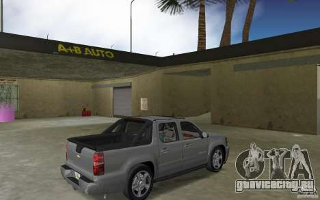 Chevrolet Avalanche 2007 для GTA Vice City вид справа