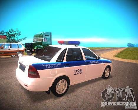 ВАЗ 2170 Приора ДПС для GTA San Andreas вид слева