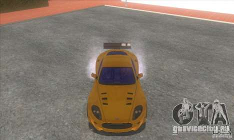 Aston Martin DB9 MW для GTA San Andreas вид сзади