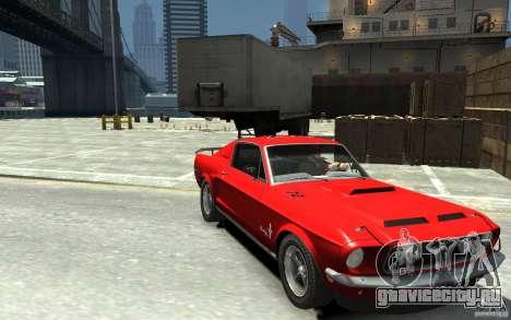 Ford Mustang Fastback 302did Cruise O Matic для GTA 4 вид сзади
