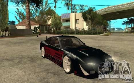 Nissan 180SX - Koguchi Power для GTA San Andreas вид сзади