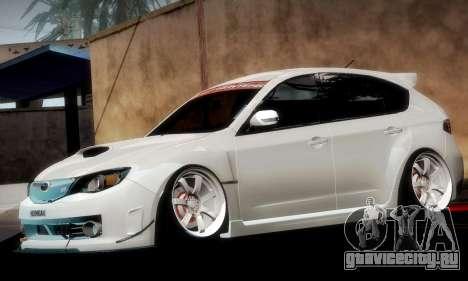 Subaru Impreza WRX Camber для GTA San Andreas двигатель