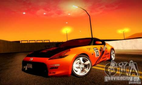 Nissan 370Z V2 для GTA San Andreas салон