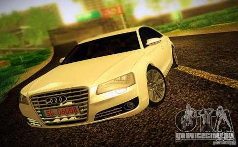 Audi A8 2010 для GTA San Andreas вид сбоку