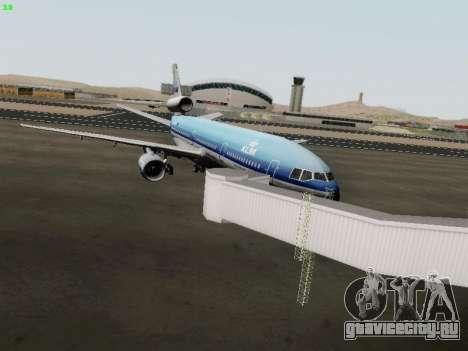 McDonell Douglas DC-10-30 KLM Royal Dutch для GTA San Andreas вид сзади