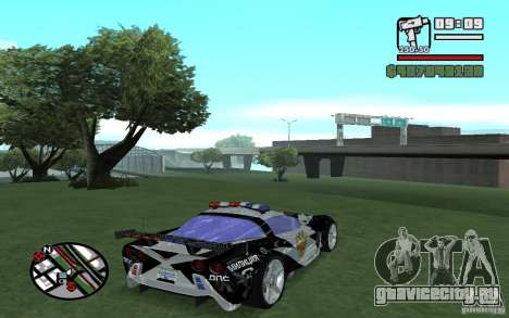 Cross Corvette C6R Русский для GTA San Andreas вид справа