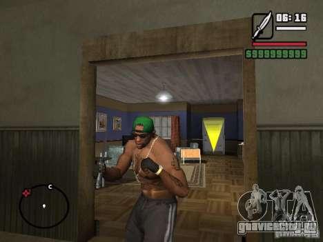 Перчатки без пальцев для GTA San Andreas второй скриншот