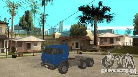 КамАЗ 54115 для GTA San Andreas вид изнутри