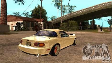 Mazda Miata JDM для GTA San Andreas вид справа