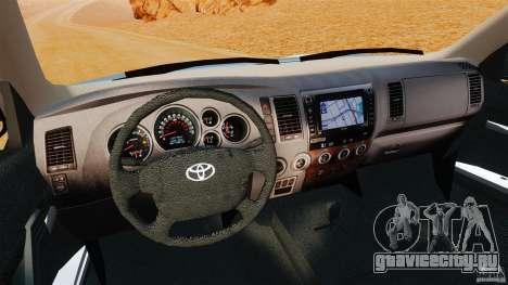 Toyota Tundra 2011 для GTA 4 вид сзади