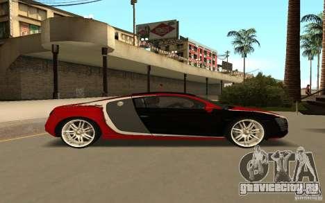 Audi R8 Le Mans Quattro для GTA San Andreas вид изнутри