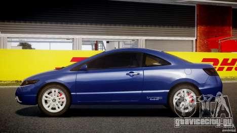 Honda Civic Si Coupe 2006 v1.0 для GTA 4 вид слева