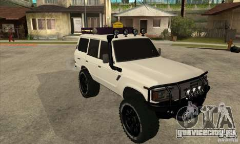 Toyota Land Cruiser 70 1993 Off Road Samurai для GTA San Andreas вид сзади