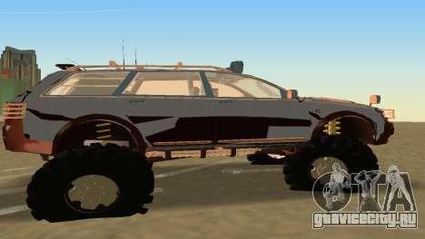Audi Allroad Offroader для GTA Vice City вид сзади слева