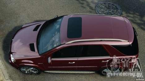 Mercedes-Benz ML63 (AMG) 2009 для GTA 4 вид справа