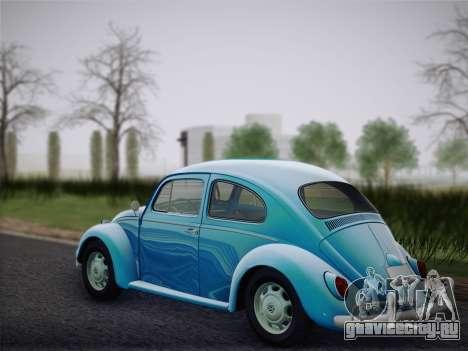 Volkswagen Beetle 1967 V.1 для GTA San Andreas вид сзади слева