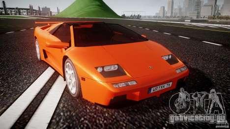 Lamborghini Diablo 6.0 VT для GTA 4 вид сзади