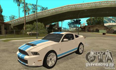 Ford Mustang Shelby GT500 2011 для GTA San Andreas вид слева