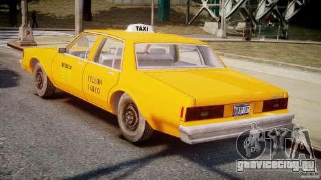 Chevrolet Impala Taxi v2.0 для GTA 4 вид справа