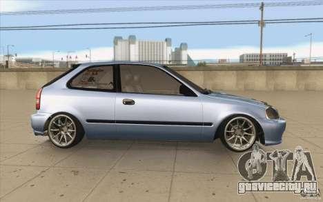 Honda Civic EK9 JDM v1.0 для GTA San Andreas вид изнутри