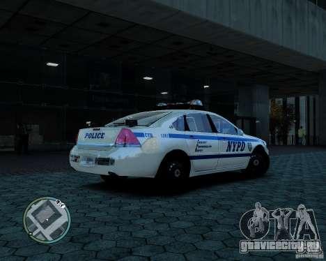 NYPD Chevrolet Impala 2006 [ELS] для GTA 4 вид сзади слева