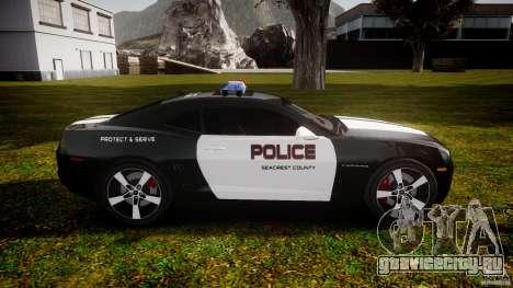 Chevrolet Camaro Police (Beta) для GTA 4 вид изнутри