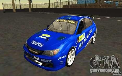 Новые винилы к Subaru Impreza WRX STi для GTA San Andreas салон