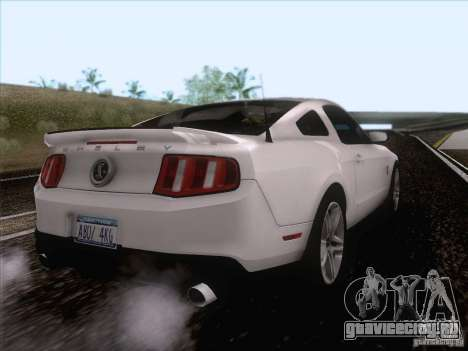 Ford Shelby Mustang GT500 2010 для GTA San Andreas вид справа