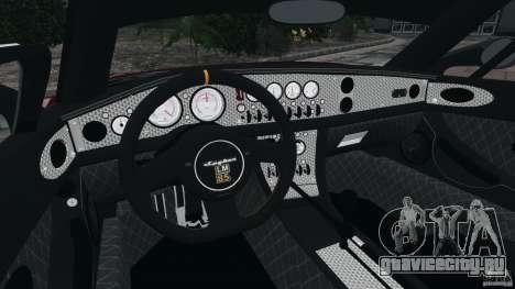 Spyker C8 Laviolette LM85 для GTA 4 вид сзади