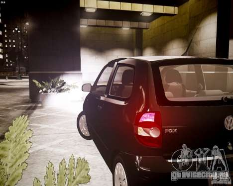 Volkswagen Fox 2011 для GTA 4 вид сзади