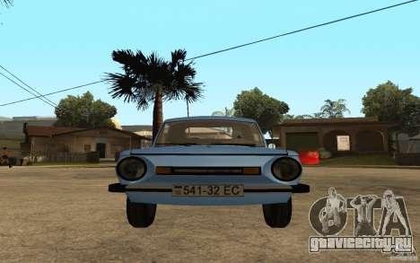 ЗАЗ 968 МП для GTA San Andreas вид справа