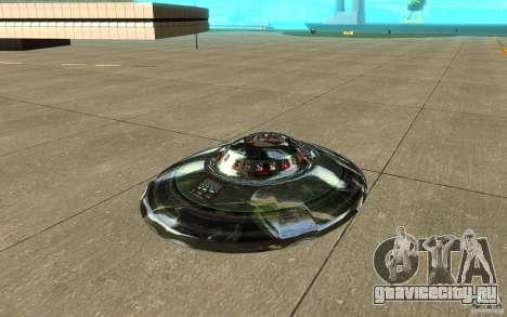 Real UFO для GTA San Andreas вид слева