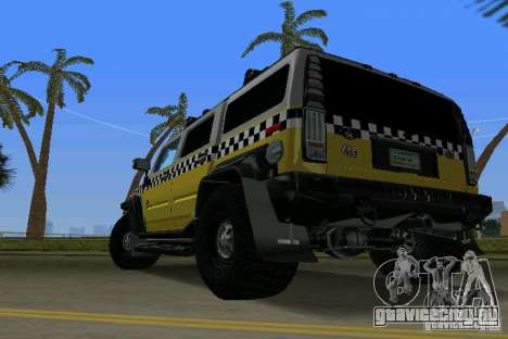Hummer H2 SUV Taxi для GTA Vice City вид слева