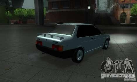 ВАЗ 21099 Coupe для GTA San Andreas вид сзади