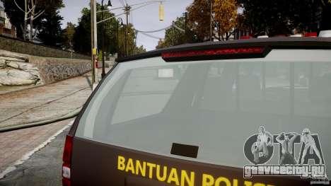 Chevrolet Tahoe Indonesia Police для GTA 4 вид снизу