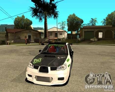 Subaru Impreza Elemental Attack для GTA San Andreas вид сзади