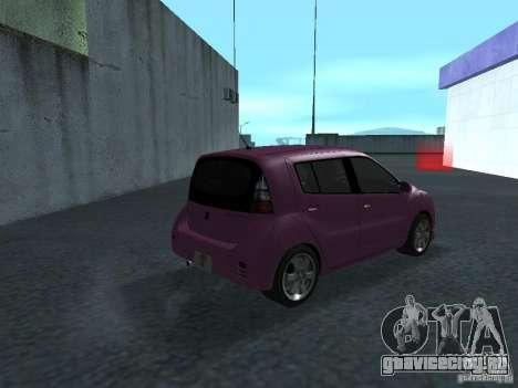 Toyota WiLL Cypha для GTA San Andreas вид справа