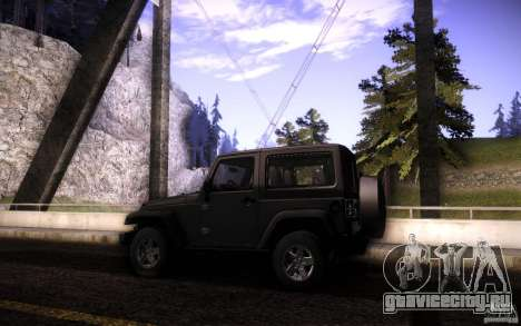 Jeep Wrangler Rubicon 2012 для GTA San Andreas вид сверху