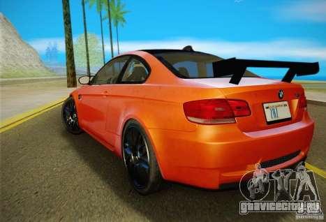 BMW M3 GT-S Final для GTA San Andreas вид сзади