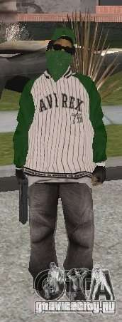 Новые скины Grove Street для GTA San Andreas пятый скриншот