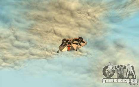 T-47 Snowspeeder для GTA San Andreas вид изнутри