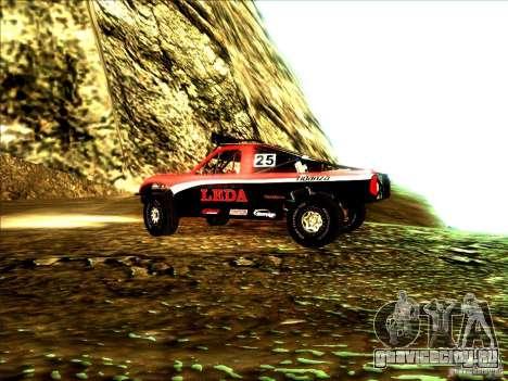Toyota Tundra Rally для GTA San Andreas вид сзади