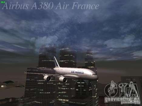 Airbus A380-800 Air France для GTA San Andreas двигатель