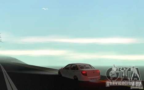 Lada Granta Stock для GTA San Andreas вид сзади слева