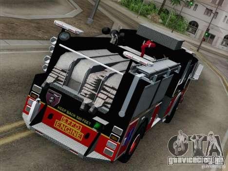 Seagrave Marauder Engine SFFD для GTA San Andreas вид изнутри
