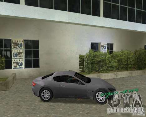 Maserati  GranTurismo для GTA Vice City вид справа