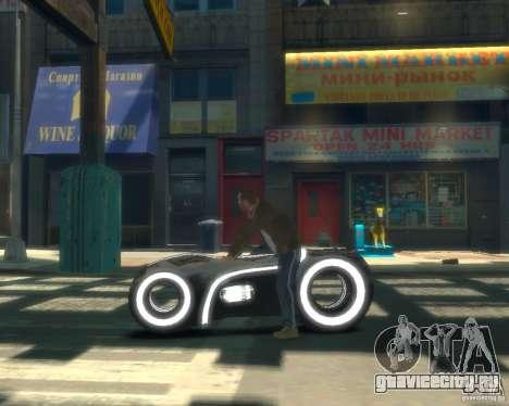 Мотоцикл из Трон (серый неон) для GTA 4 вид слева