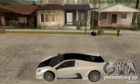 SSC Ultimate Aero FM3 version для GTA San Andreas вид слева
